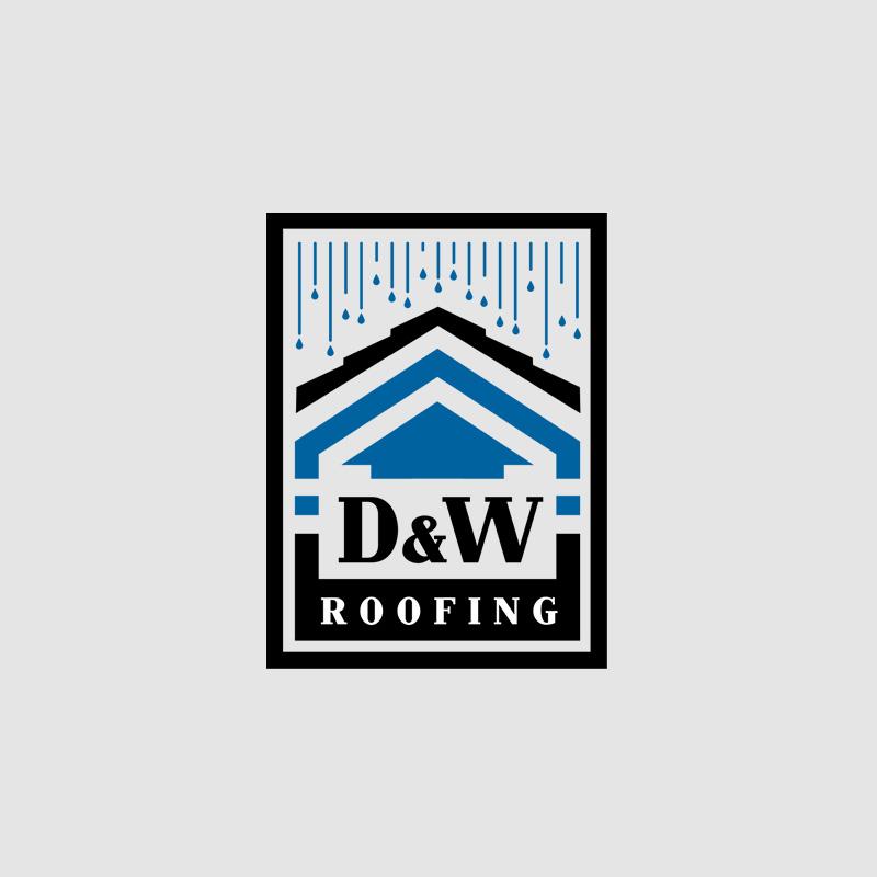 D & W Roofing Logo Design
