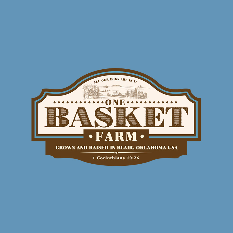 One Basket Farm Logo Design