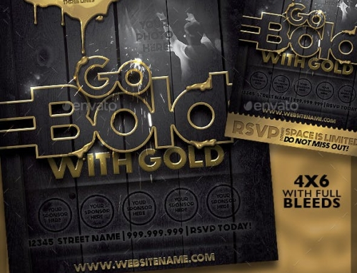 Adobe Flyer Template – Go Bold with Gold