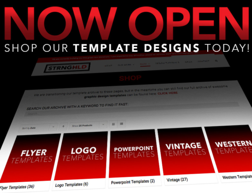 Graphic Design Template Shop – Now Open!